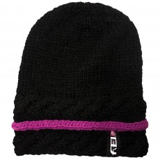 Ariat FEI Cable Knit Hat (Black/FEI Purple)