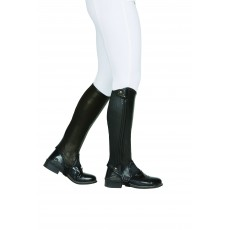 Dublin Adults Evolution Side Zip Half Chaps (Black) Adults Large Tall