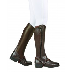 Dublin Adults Evolution Side Zip Half Chaps (Brown)