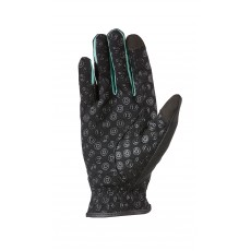 Dublin Adult's Cool-It Gel Riding Glove (Black/Teal)