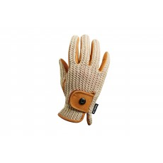 Dublin Adults Crochet Riding Gloves (Natural/Natural)