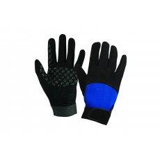 Dublin Adult's Cross Country Riding Gloves II (Black/Blue)