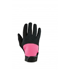 Dublin Adult's Cross Country Riding Gloves II (Black/Pink)