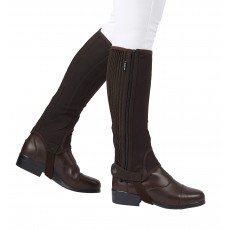 Dublin Adult's Easy-Care Half Chaps II (Brown)