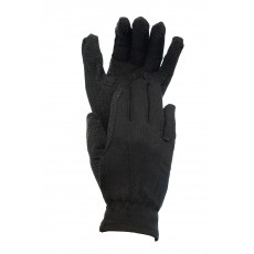 Dublin Adult's Everyday Deluxe Track Riding Gloves (Black)