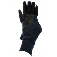Dublin Adult's Everyday Showerproof Polar Fleece Riding Gloves (Navy)