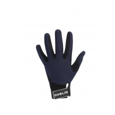 Dublin Adult's Meshback Riding Gloves (Navy)
