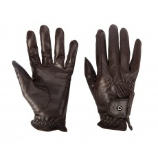 Dublin Adults Show Riding Gloves (Dark Brown)