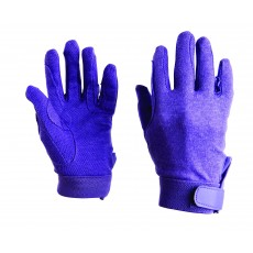 Dublin Adult's Track Riding Gloves (Purple)