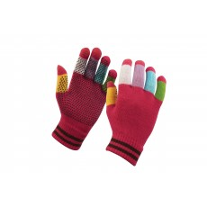 Dublin Child's Magic Pimple Grip Riding Gloves (Pink Multi)