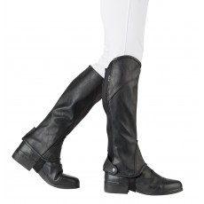 Dublin Child's Stretch Fit Half Chaps (Black)