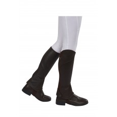 Dublin Child's Stretch Fit Half Chaps (Brown)