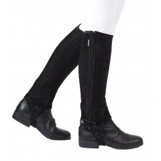 Dublin Child's Suede Half Chaps II (Black)