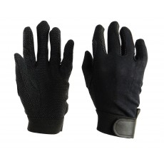 Dublin Child's Track Riding Gloves (Black)