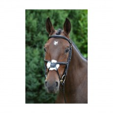 Hy Mexican Grackle Bridle with Rubber Reins