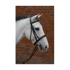 Hy Padded Cavesson Bridle with Rubber Reins