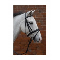 Hy Padded Flash Bridle with Rubber Reins