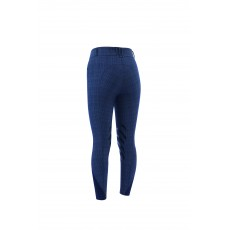 Dublin Ladies Pro Form Gel Knee Patch Breeches (Navy Plaid)