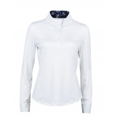 Dublin Ladies Ria Long Sleeve Competition Shirt (White/Navy)