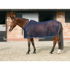 Mark Todd (Clearance) Mesh Cooler Rug (Navy & Silver)