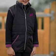 Mark Todd Kids Quilted Gilet (Navy/Purple)