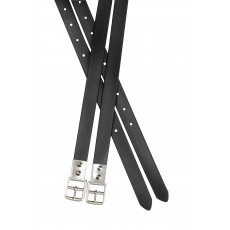 Collegiate Synthetic Stirrup Straps (Black)