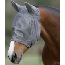 Mark Todd Fly Mask With Ears (Grey)