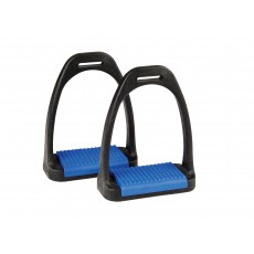Korsteel Polymer Stirrup Irons With Coloured Treads (Blue)