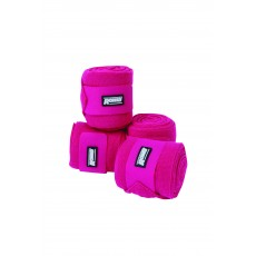 Roma Acrylic Stable Bandages 4 Pack (Bright Pink)