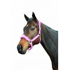 Roma Fleece Shaped Headcollar (Berry)