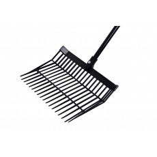 Roma Revolutionary Stable Rake With Handle (Black)