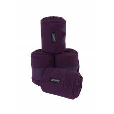 Roma Thick Polo Bandages 4 Pack (Purple)