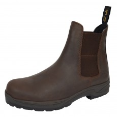 Mark Todd (Clearance) Adults Waterproof Kiwi Short Work Boots (Brown) (Size UK6)
