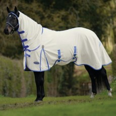 Weatherbeeta Comfitec Shield Fly Rug - Combo Neck (White/Blue)