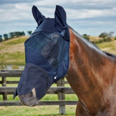 Weatherbeeta Fly Mask With Nose (Black)