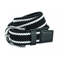 Dublin Adult's Webbing Belt (Navy/White)