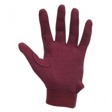 Dublin Child's Track Riding Gloves (Burgundy)
