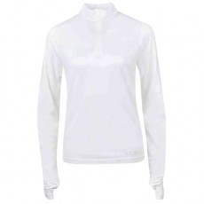 Dublin Ladies Black Jenny Half Zip Competition Shirt (White)