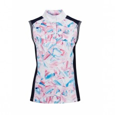 Dublin Ladies Katie Printed Sleeveless Competition Shirt (Geo Print)
