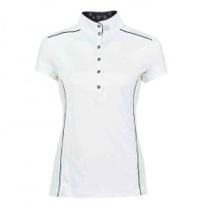 Dublin Ladies Sadie Short Sleeve Competition Shirt (White)