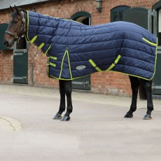 Weatherbeeta Comfitec PP Channel Quilt Combo Neck Heavy (Navy/Lime)