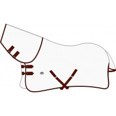 JHL Essential Combo Fly Rug (White/Burgundy)