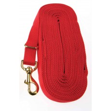 Kincade Cotton Lunge Rein (Red)