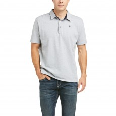 Ariat Men's Medal Polo (Heather Gray)