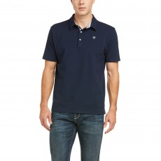 Ariat Men's Medal Polo (Navy)