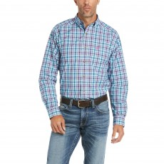 Ariat Men's Pro Hawken Fitted Long Sleeve Shirt (Blue Depths)