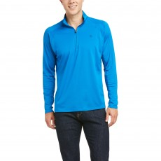 Ariat Men's Sunstopper 1/4 Zip Base Layer (Imperial Blue)