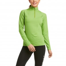 Ariat Women's Auburn 1/4 Zip Base Layer (Peridot)