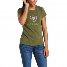 Ariat Women's HD Logo T-Shirt (Winter Moss)