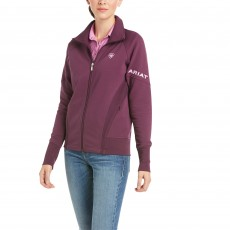 Ariat Women's Largo Full Zip Sweatshirt (Italian Plum)
